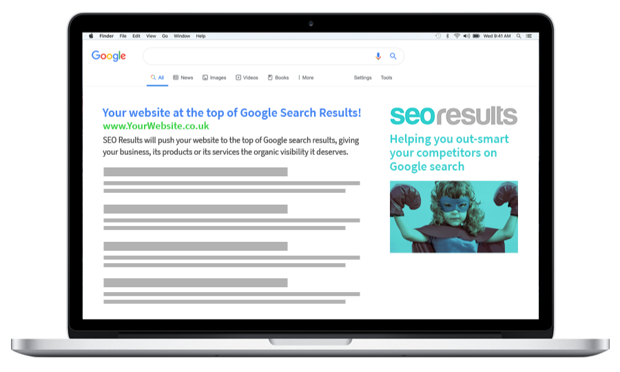 SEO agency delivering organic ranking at the top of Google